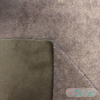 Biface Bambou / Microfibre Eponge velours Oekotex Taupe