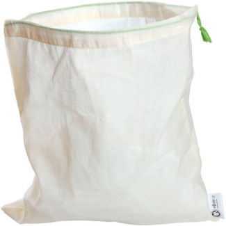 Organic cotton reusable produce bag