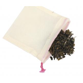 Sachet à thé en coton bio réutilisable