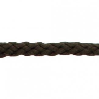 Cordon Anorak tresse plate 5mm Marron Foncé (bobine 50m)