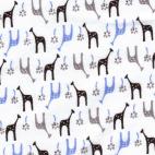 Cotton Interlock Iced Girafes (by meter)