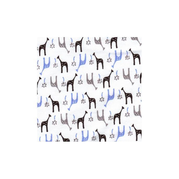 Interlock de coton Girafes glacées (au mètre)