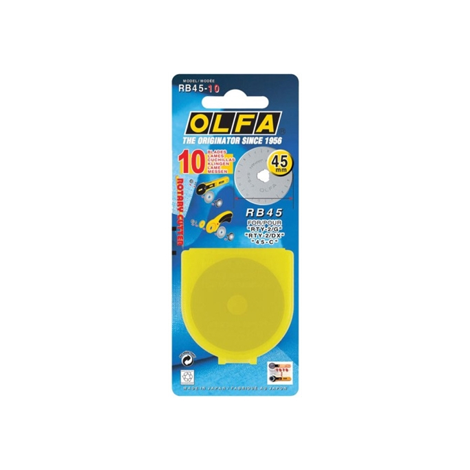 Spare Blade for OLFA rotary cutters 45mm (x1)