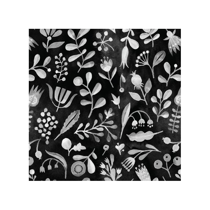 Organic cotton Batiste print Elliot Evenue Alphid Black Cloud9