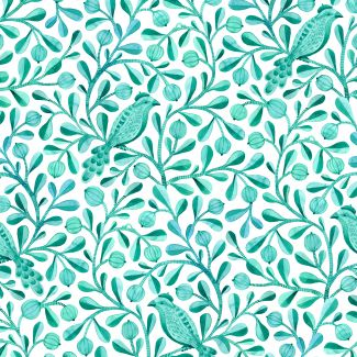 Organic cotton print Birds & Branches Felipe Cloud9