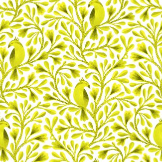 Coton Bio imprimé Birds & Branches Citrine Cloud9