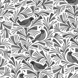 Coton Bio imprimé Birds & Branches Maeve Cloud9