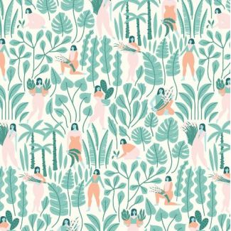 Organic cotton print Ethereal Jungle Botanical Babes Cloud9