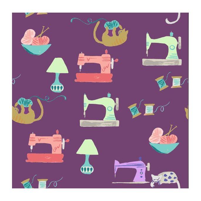 Coton Bio imprimé Saturday Sewing Monaluna