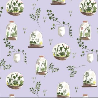 Organic cotton print Saturday Terrariums Monaluna