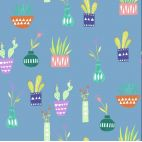 Organic cotton print Saturday House Plants Monaluna
