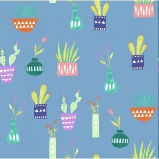 Coton Bio imprimé Saturday House Plants Monaluna