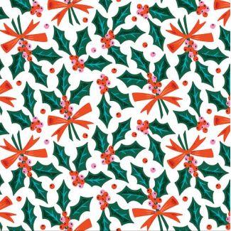 Organic cotton print Tinsel Holly Jolly Cloud9