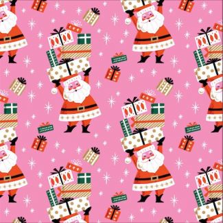 Organic cotton print Tinsel Merry Merry Cloud9
