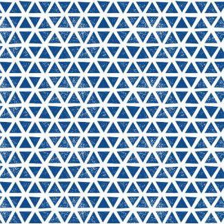 Coton Bio Interlock Triangles Blue Cloud9