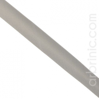 Satin Bias Binding 20mm Grey (by meter)