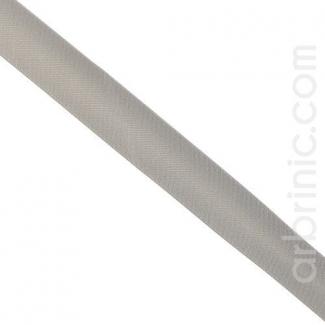 Satin Bias Binding 20mm Grey (by meter)