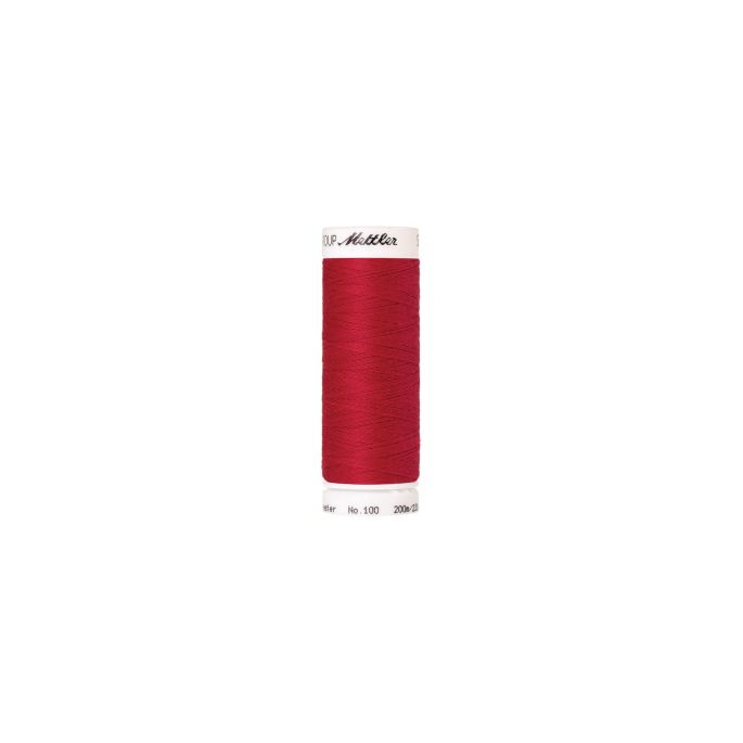 Fil polyester Mettler 200m Couleur n°0102 Rouge Poinsettia
