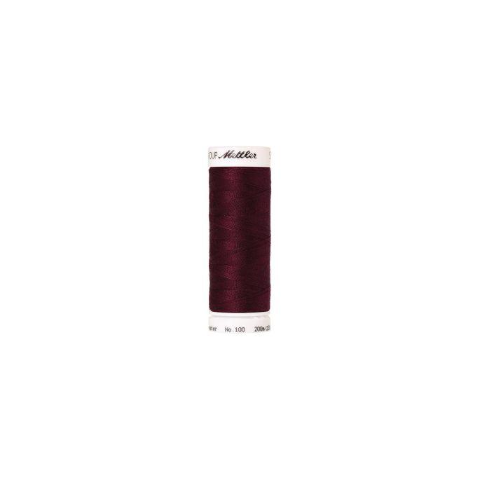 Fil polyester Mettler 200m Couleur n°0109 Bordeaux