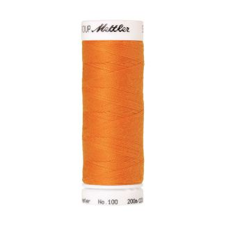 Fil polyester Mettler 200m Couleur n°0122 Citrouille