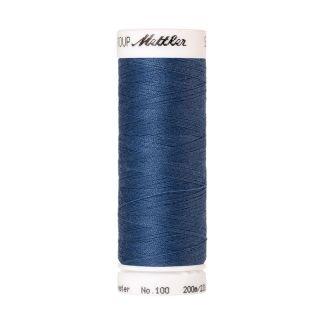 Fil polyester Mettler 200m Couleur n°0351 Bleu d'Ardoise