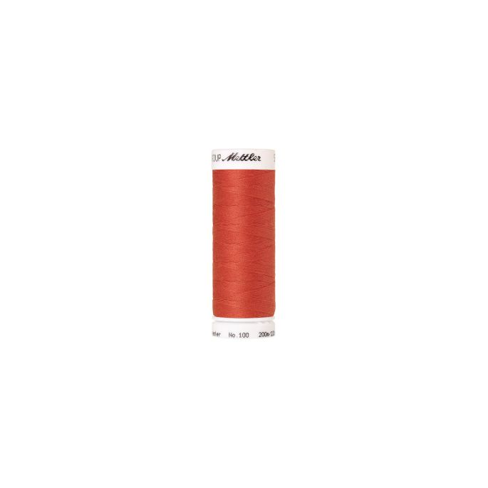 Fil polyester Mettler 200m Couleur n°0507 Rouge Tuile