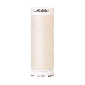Mettler Polyester Sewing Thread (200m) Color #1000 Eggshell