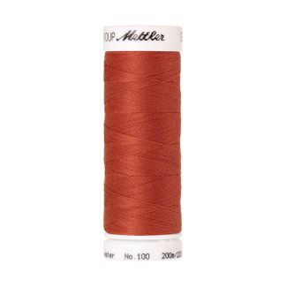 Fil polyester Mettler 200m Couleur n°1288 Rouge Ocre