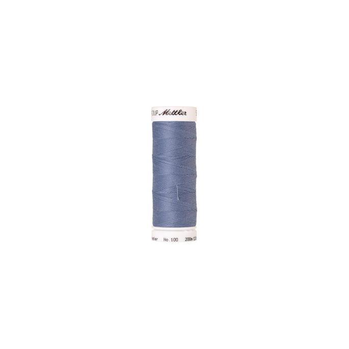 Fil polyester Mettler 200m Couleur n°1363 Bleu Chardon