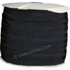 Biais élastique 2.5cm Noir (1m)