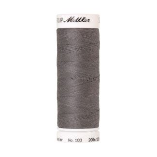 Fil polyester Mettler 200m Couleur n°0318 Etain pur
