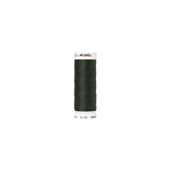 Fil polyester Mettler 200m Couleur n°0627 Vert Foncé
