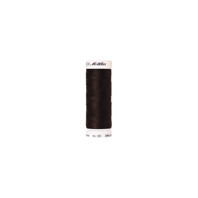 Mettler Polyester Sewing Thread (200m) Color 1002 Very Dark Bro