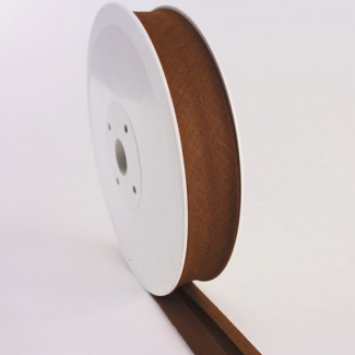 Single Fold Bias Binding 30mm Chocolate (25m roll)