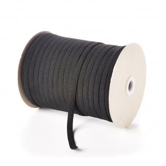 Braided Elastic Black 5mm (by meter) Made in France