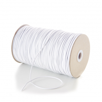 Round Cord Elastic 1.5mm White (by meter) Made in France