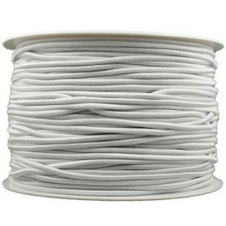 Thick Round Cord Elastic White (by meter) Made in France