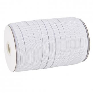 Elastique Tressé 14mm 20 gommes Blanc (au mètre)