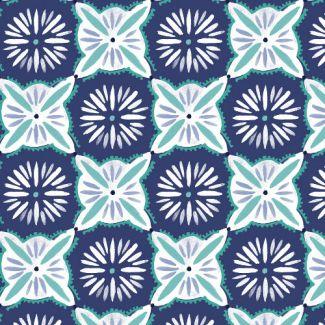 Organic cotton Popeline Emmas Kitchen Daisy Tile Haerae