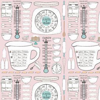 Popeline Coton Bio Emmas Kitchen Retro Kitchen Chart Haerae