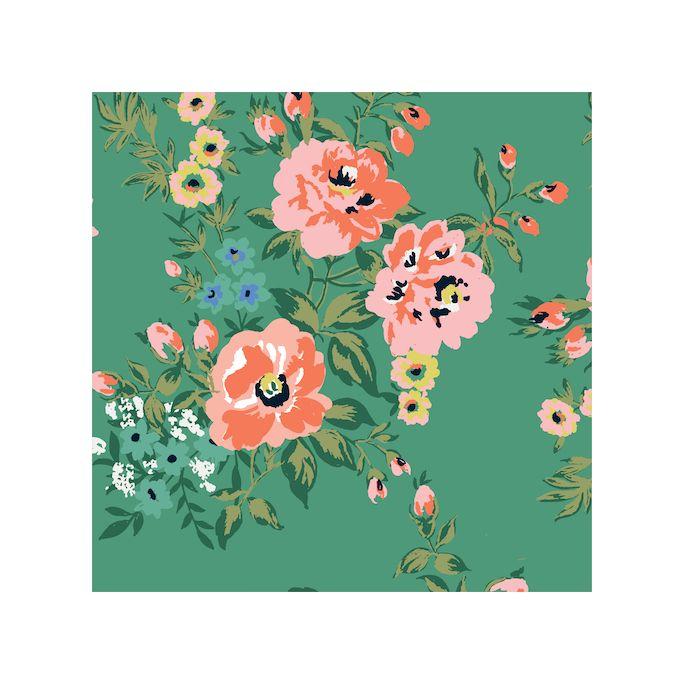 Organic cotton Sateen Wildflower Sweet Rose Cloud9