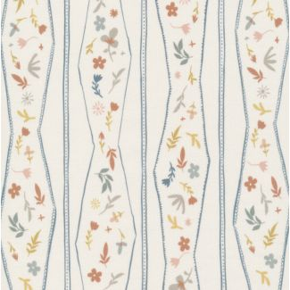 Popeline Coton Bio A House in Bloom Lydia Ivory Multi Form Cloud9