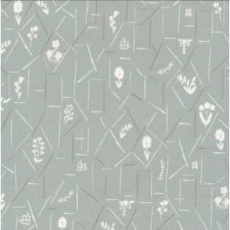 Popeline Coton Bio A House in Bloom Bell Gray Cloud9