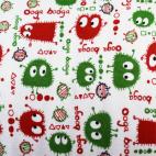 PUL poly print Christmas Ooga Booga width 140cm (per 10cm)