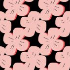 Laminated Organic Cotton Pink Rose Cloud9