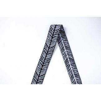 Biais élastique 2.5cm Print Zebra (9m50)