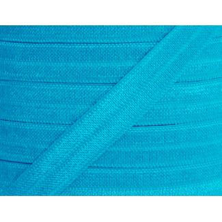 **Shinny Fold Over Elastic Oekotex 15mm Turquoise (11m)