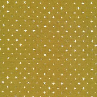 Organic cotton print Ember Gold Stars Cloud9 (per 10cm)