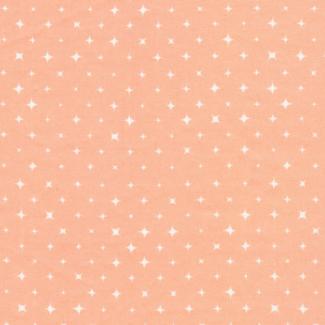 Organic cotton print Fresh Coral Stars Cloud9 (per 10cm)