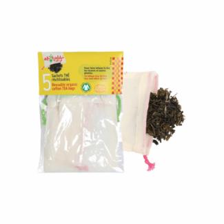 Organic cotton reusable tea bag